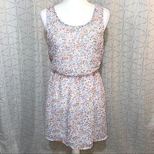 H&M Coachella Women Floral Print Flounce Dress
